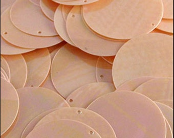 Glossy Peaches and Cream Disc Sequins 24mm - JR02856