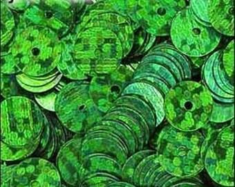 Hologram Emerald Flat Sequins 6mm - JR01439