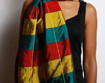 Tri-color vibrant Ethiopian scarf