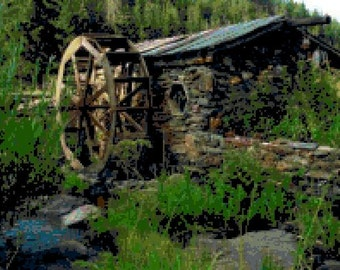Watermill Cross Stitch Chart
