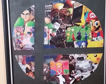 Super Smash Brothers -  Framed Collage - Home Decor