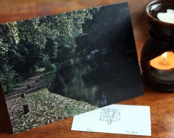 River Wey in Surrey - greeting card riverbank photography