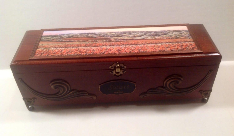 Wedding wine box wooden wine box gift box keepsake box