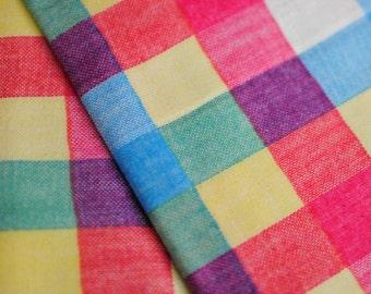 Japanese Fabric Double Gauze Multi Color Plaid