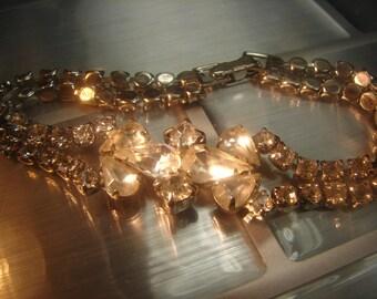 Beautiful Rhinestone bracelet from the 40's 54