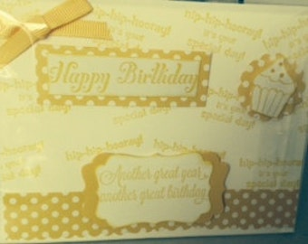 6 Blank Birthday Cards with Matching Envelopes