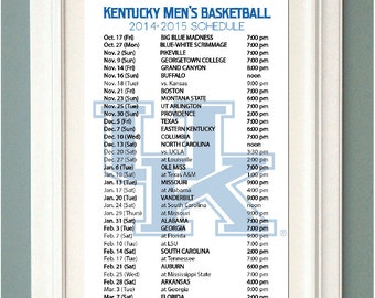 Clever image with regard to printable kentucky basketball schedule