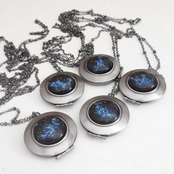 Bridesmaids gift set 5 outer space nebula by for Outer space gifts