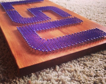 String Art Sports Logo LSU Tigers *FREE SHIPPING*
