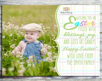 Baby's First Easter Photo Card, Printable Easter Card, Easter Greeting Card, Easter Printable, Easter Holiday Card Printable, Easter Print
