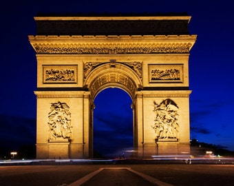 Paris night photo etsy for Arc de triomphe wall mural