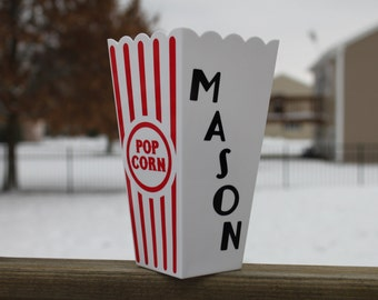 Personalized Popcorn Box *Movie Night*