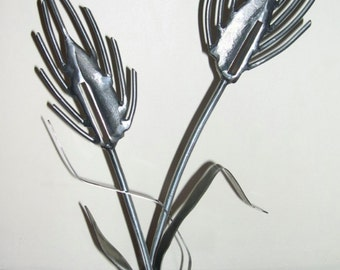Wheat Stalks / Metal Sculpture / Country