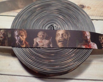 Zombies Grosgrain Ribbon, Zombie Grosgrain Grosgrain Ribbon