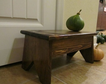 Step stool, solid wood, 8 inches high