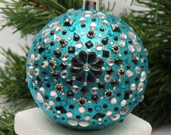 Whimsical Turquoise Dreamcatcher Christmas Ornament