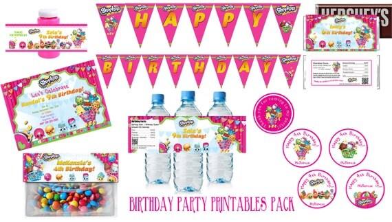 Shopkins Birthday Party Supplies Invitations Favors