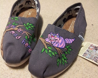 Toms Shoes Customized Cheshire Cat