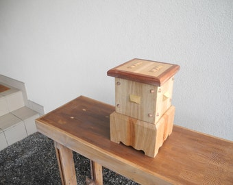 Wood box with secret drawer