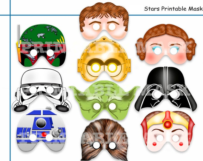 Unique Comic Stars Printable Masks,party mask,birthday,wars heroes,space star,photo booth props ,kids mask,kids dress up play,party favor