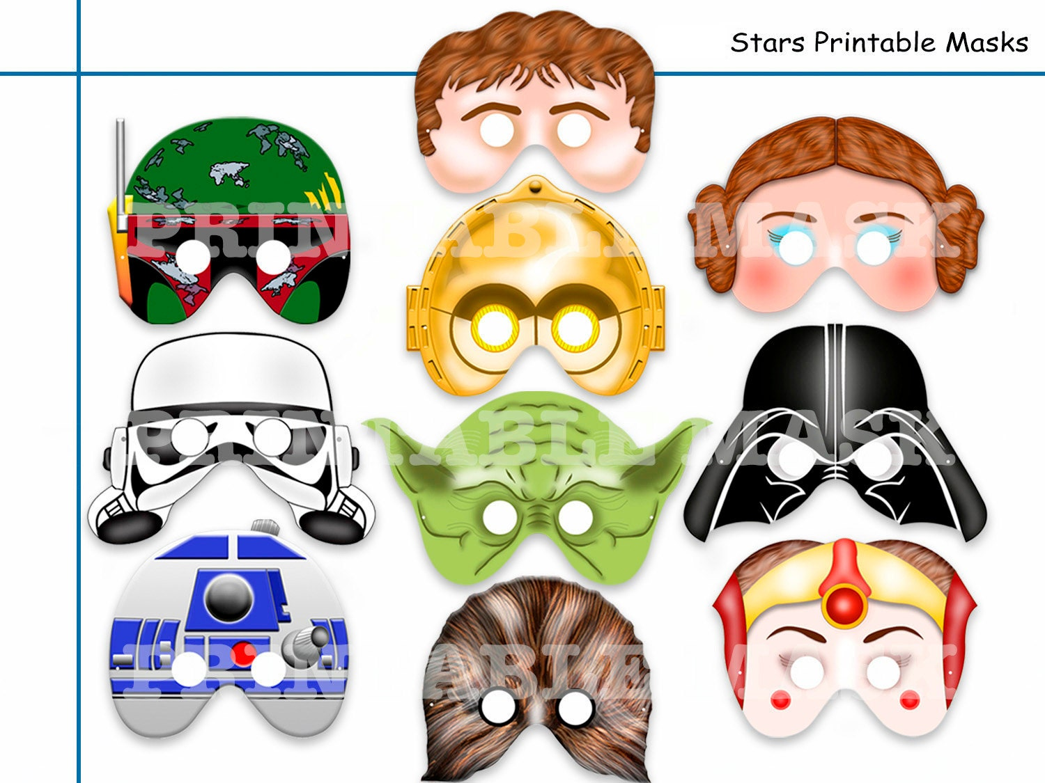 Massif image within printable star wars masks