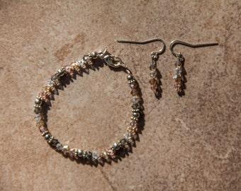 Swarovski Crystal Bracelet & Earring Set