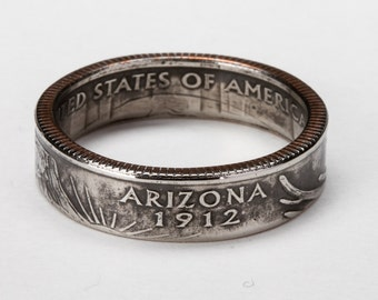 Arizona State Quarter Coin Ring