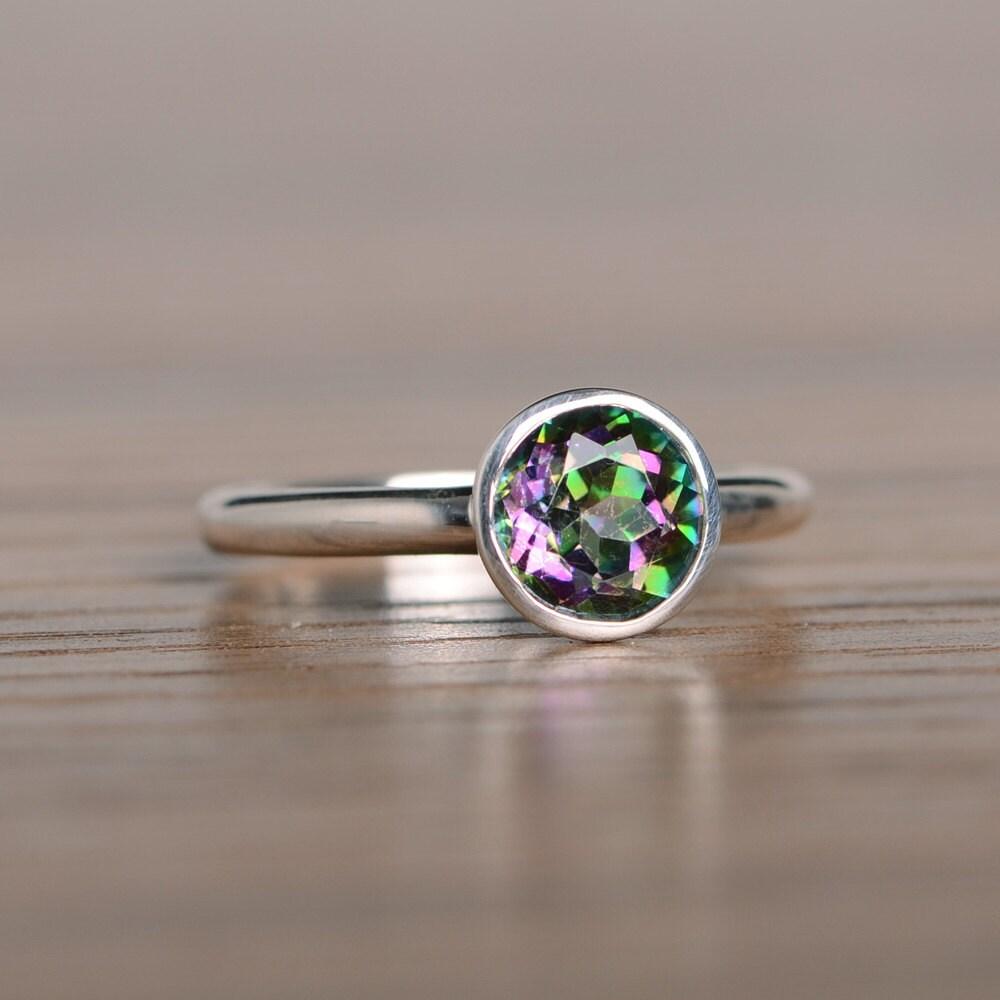 Mystic Topaz Ring Promise Ring Engagement Ring Handmade Ring