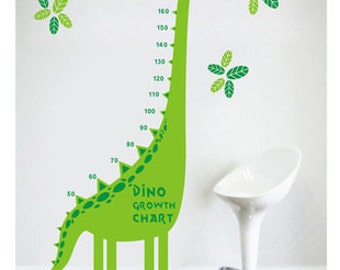 Double color dinosaurs growth chart wall decal growth chart wall sticker,height chart decal,dinosaur decal,kids growth chart
