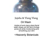 Organic Jojoba and Ylang Ylang Face Wash,  Oil wash, Facial oil, Acne face wash, Moisturizer 1 oz