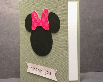 Minnie Mouse Thank You Cards - Disney Thank You Cards - Thank You Card Set - Blank Thank You Cards