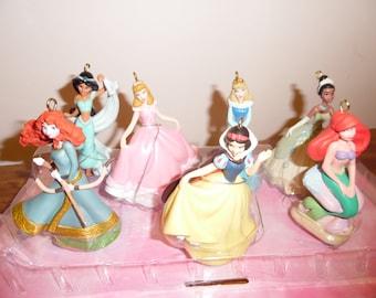Disney's PRINCESSES set of 7 Christmas Ornaments