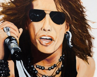 Oil painting of Steven Tyler