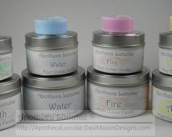 Set of 7 Elemental and Deity Ritual Candles ***Earth, Air, Fire, Water, Spirit, Goddess Deity and God Deity Candles***