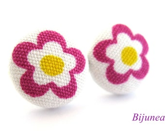 Flower earrings studs - Purple Flower posts - Flower studs - Spring Flower earrings - Flower jewelry - Earrings cherry sf894
