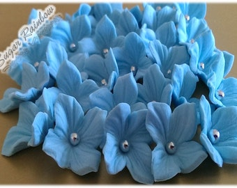 20 Edible Veined Sugar Flowers Blossoms Blooms For Cakes  Cupcakes