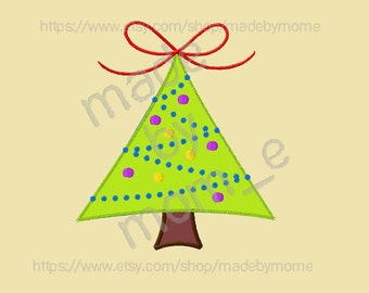 Christmas Tree Applique & Filled (2 DESIGNS!!!)