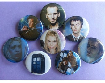 Doctor Who Pinback Buttons