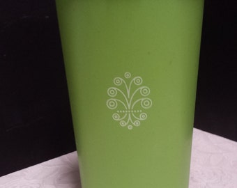Large Vintage 70s Lime Green Tupperware Canister