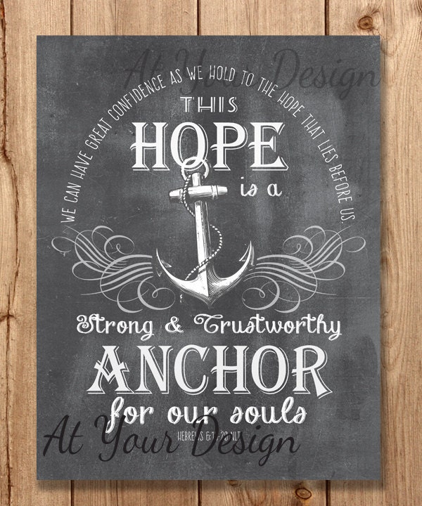 My anchor chalkboard wall art bible verse scripture for Bible verses about fish