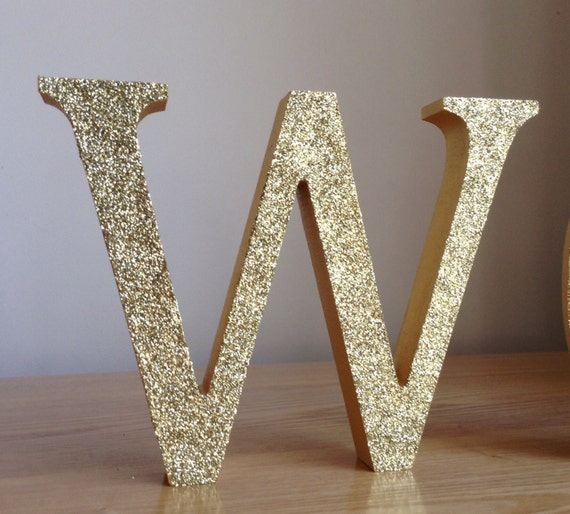 5 gold glitter letters gold wooden letters for Sparkly wooden letters