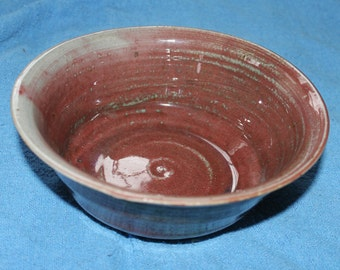 Handmade Bowl 8.5 inches, Beautiful Colors, Vintage