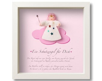 Guardian Angel - sweet gift for birth, baptism. Personalized with names and personal dedication.