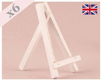 Wooden Easels For Place Cards Small Pack Of 6