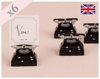Place Card Holder - Vintage Typewriter Pack of 6