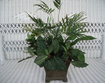 Silk Plant Greenery Potted Plant Centerpiece Wedding DIY Floral Arrangement #451