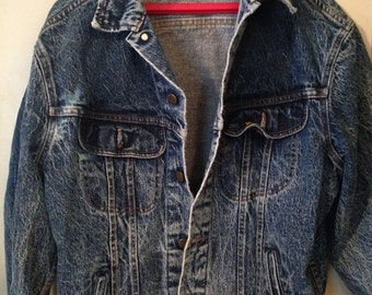 Vintage LEE  Stone Wash Denim Jean Jacket M