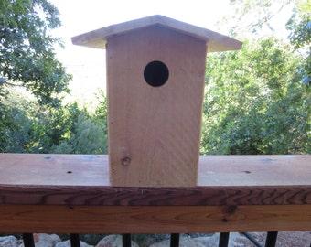 Handmade Cedar Birdhouse: Bluebird