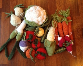 Knitted Vegetable Medley