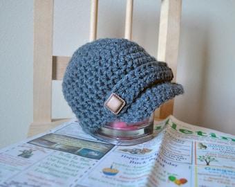 Newsboy Hat - photo prop - crochet